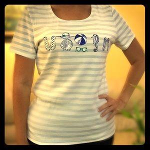 Karen Scott ladies shirt. Short sleeves. Size M.